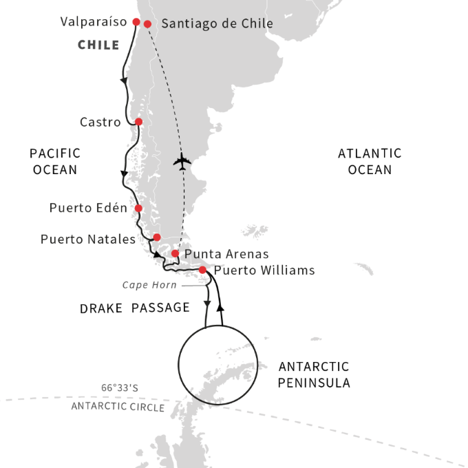 Explore the South American fjords to Antarctica _ October 2021_Roald Amundsen_CruiseNorway