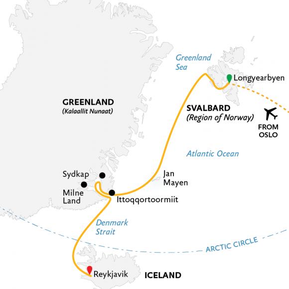 four-arctic-islands-spitsbergen-jan-mayen-greenland-and-iceland-18d-2021-map