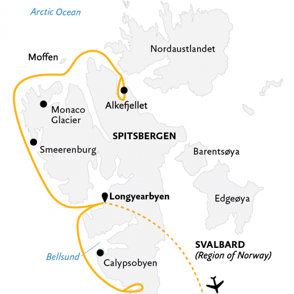 introduction-to-spitsbergen-fjords-glaciers-and-wildlife-of-svalbard-10d-2021-map