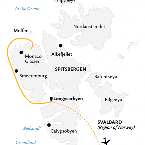 spitsbergen-highlights-expedition-in-brief-7d-2021-map